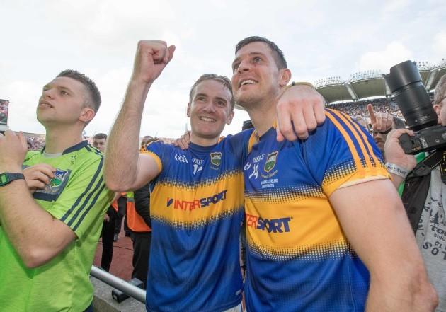 John McGrath and Seamus Callanan celebrate