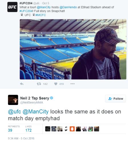 Man City tweets