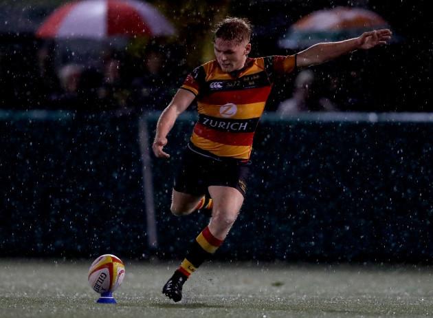 Charlie McMickan kicks