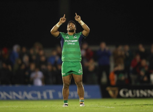 Connacht's Bundee Aki  at the end of the match