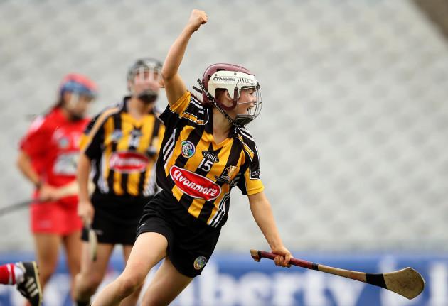 Jenny Clifford celebrates scoring