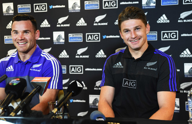 Ryan Crotty and Beauden Barrett