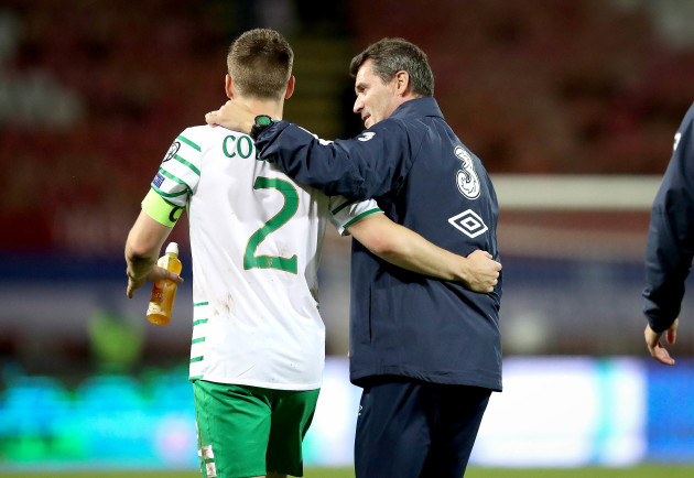 Seamus Colemanand Roy Keane after the game