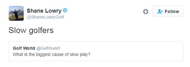 Shane Lowry tweets