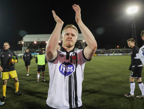 Daryl Horgan celebrates after the game