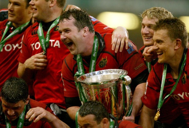 Anthony Foley with the Heineken Cup