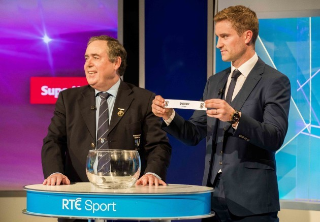 Connacht GAA Chairman Mick Rock and Galway's Gary O'Donnell make The Sunday Game Championship Draw