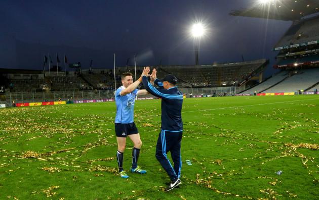 Paddy Andrews celebrates with Jason Sherlock