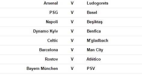 CL fixtures 19 Oct