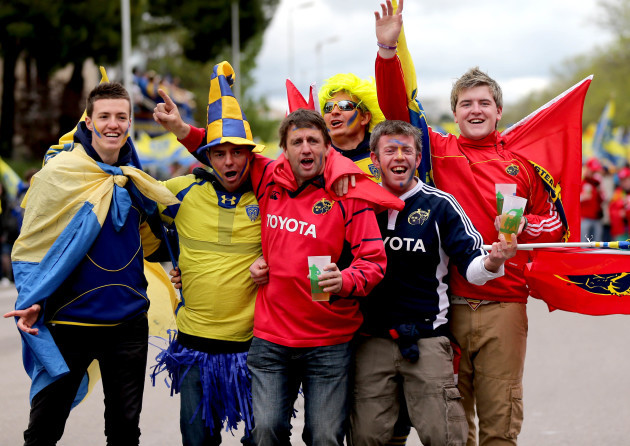 Clermont and Munster fans before the game