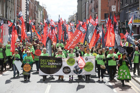 6/6/2015. Dunnes Stores Workers Protests