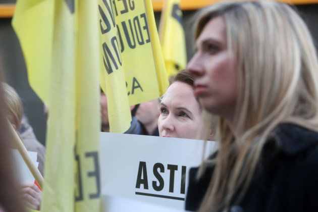 13/10/2016. ASTI Protests Trade Unions Disputes
