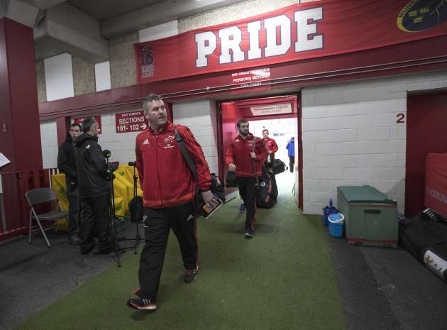 Anthony Foley arrives