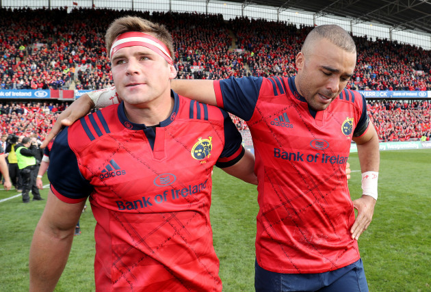 CJ Stander and Simon Zebo after the game