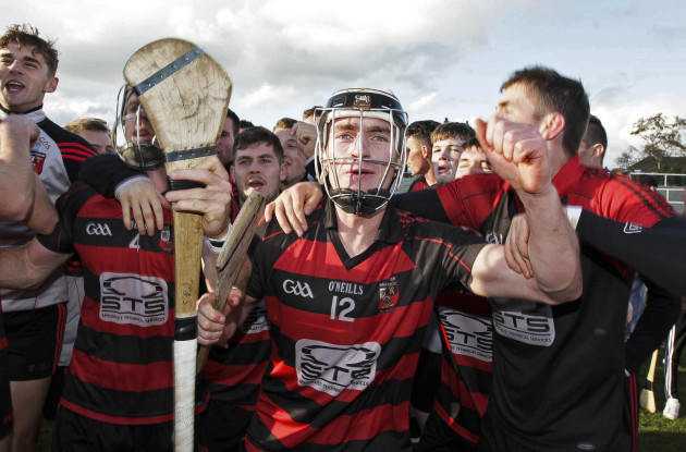 Pauric Mahony celebrates at the end of the game
