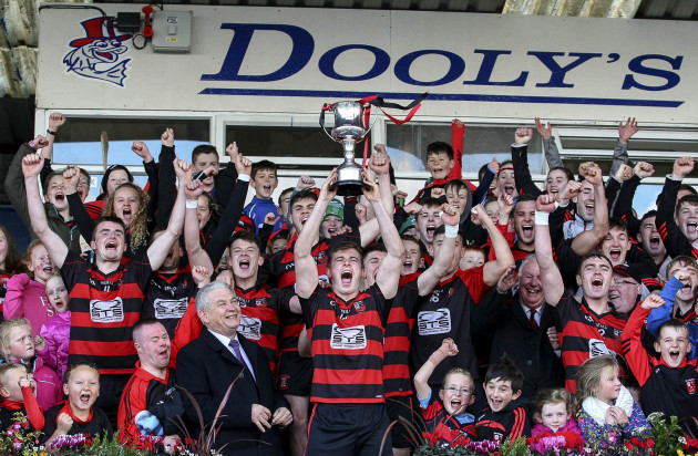 Brian O'Sullivan lifts the trophy
