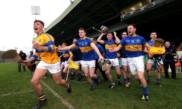 The Patrickswell substitutes celebrate