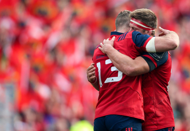 Jaco Taute with CJ Stander at the final whistle 22/10//2016