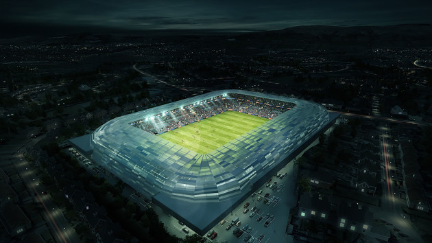 A computer generated image of the new Casement Park project