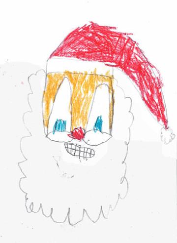 TK Santa Drawing