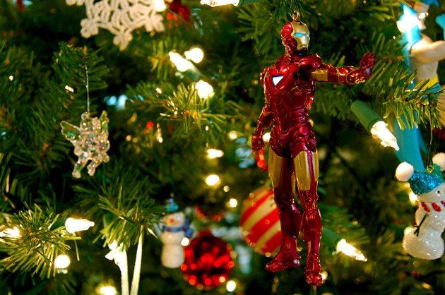 2010 Defender of Justice Iron Man Ornament