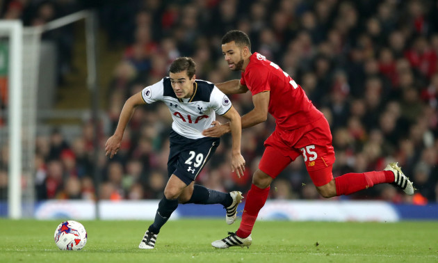 Liverpool v Tottenham Hotspur - EFL Cup - Round of 16 - Anfield