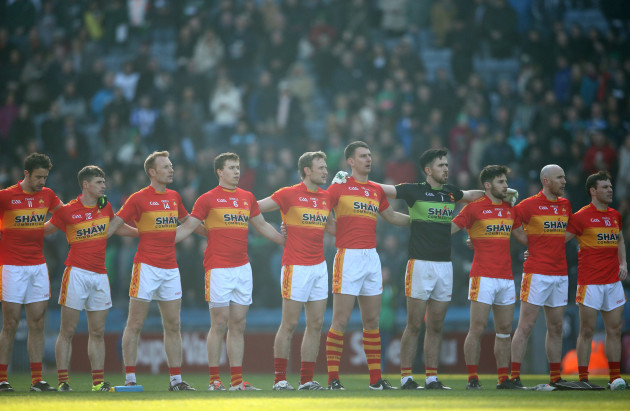 Castlebar Mitchels players stand together