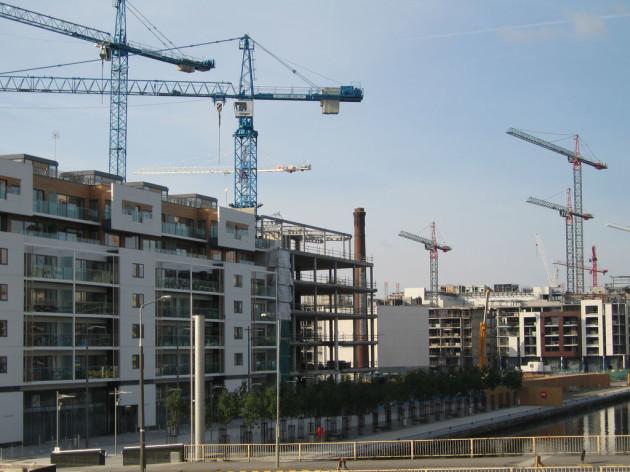 construction in Dublin Docklands