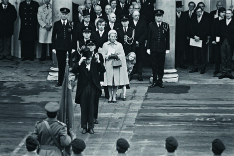 The Inauguration of President Hillery from Looking Back The Changing Faces of Ireland by Eric Luke