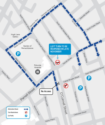 Luas-Cross-City-Cathal-Brugha-Access-from-9th-Nov-2016_map
