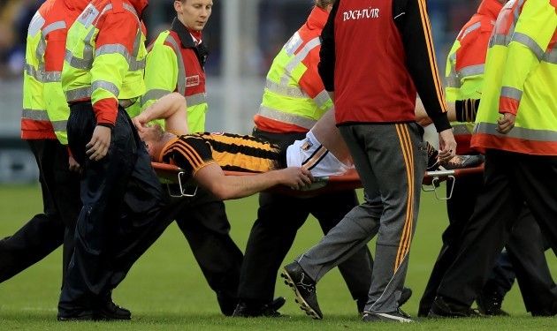 Michael Fennelly goes off injured