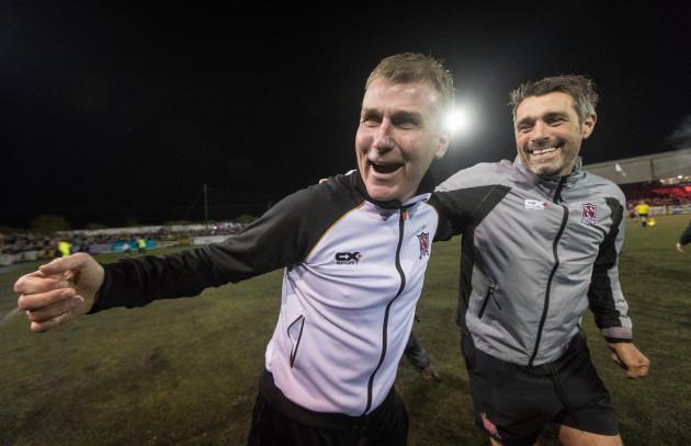 Stephen Kenny celebrates