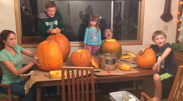 a girl became a human jack olantern after getting her