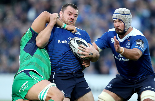 Cian Healy with Quinn Roux