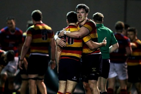 Scott Deasy and Joe McSwiney celebrate at the final whistle 28/10//2016