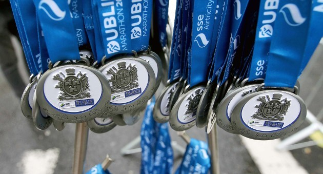 A view of the medals