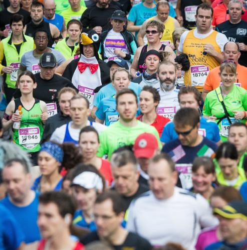 Runners dressed in costume for the Dublin Marathon