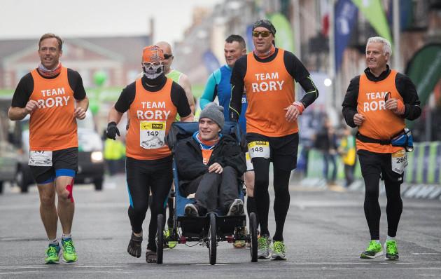 Competitors during the Dublin Marathon