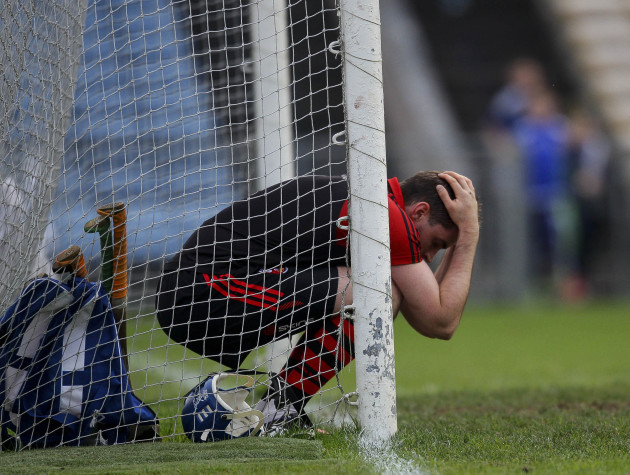 Stephen O'Keeffe is dejected at the final whistle