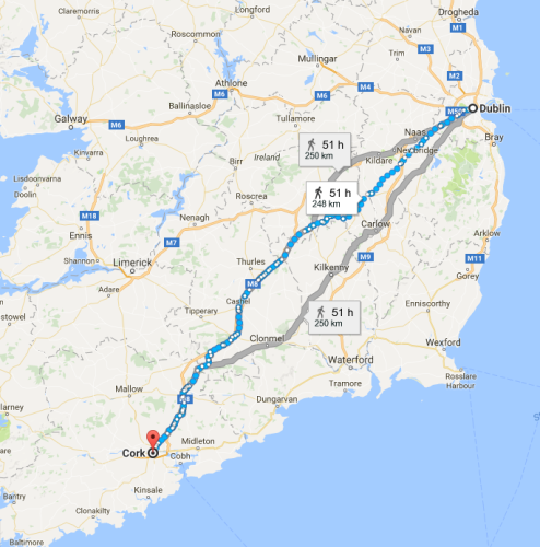Cork to Dublin