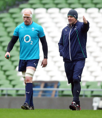 Paul O'Connell with John Plumtree