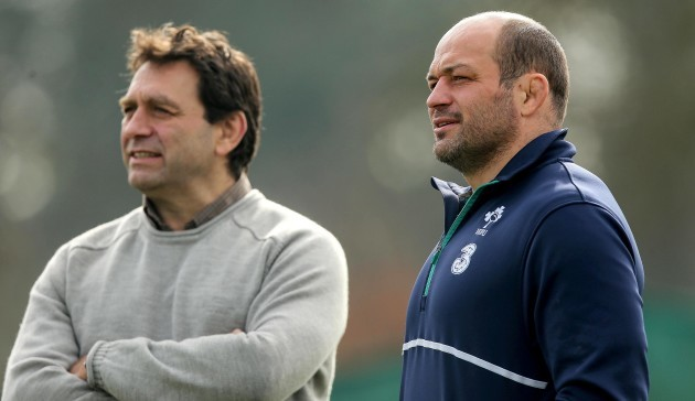 Rory Best with David Nucifora