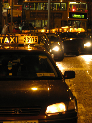 Taxi rank at Trinity Front Gate