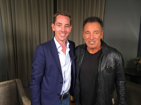 Ryan Tubridy and Bruce Springsteen