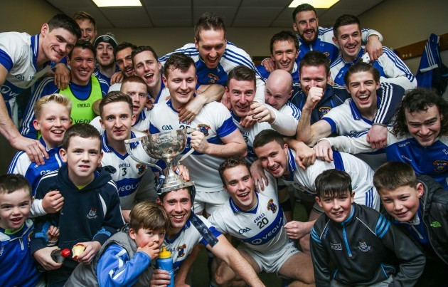 St Vincent's celebrate winning in the changing rooms