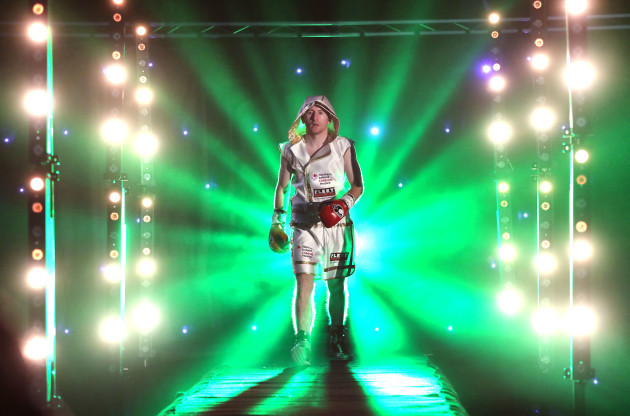 Paddy Barnes makes his way to the ring