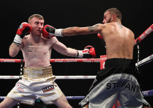 Paddy Barnes in action against Stefan Slachev