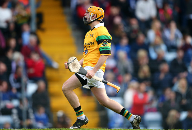 Cathal Hickey celebrates a goal