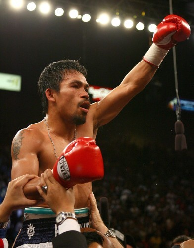 Manny Pacquiao celebrates