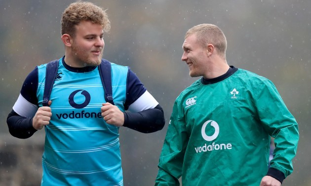 Finlay Bealham and Keith Earls